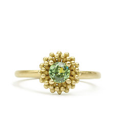 Lux Demantoid Garnet Ring by Marian Maurer (Gold & Stone Ring)