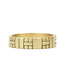 Code Band by Marian Maurer (Gold Ring)
