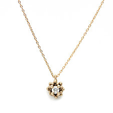 Lux Pendant with Diamond by Marian Maurer (Gold & Stone Necklace)