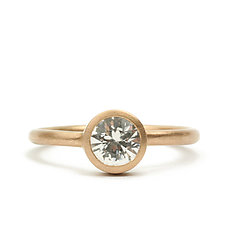 Teeny Ring with White Sapphire by Marian Maurer (Gold & Stone Ring)