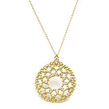 Sia Circle Diamond Necklace by Marian Maurer (Gold & Stone Necklace)