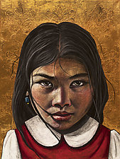 School Girl by Mary Catherine Solberg (Oil Painting)