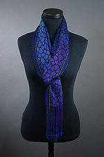 Leopard Scarf in Peacock by Mindy McCain (Tencel Scarf)