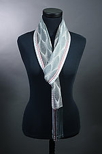 Feathers Scarf in Grays by Mindy McCain (Tencel Scarf)