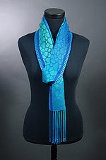 Leopard Scarf in Teals by Mindy McCain (Tencel Scarf)