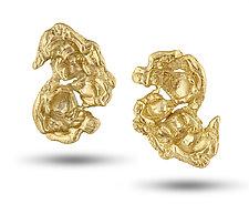 Kettle Corn Earrings by Lori Kaplan (Gold Earrings)