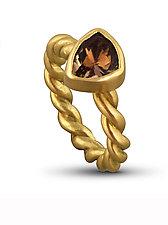 Pink Tourmaline Rope Ring by Lori Kaplan (Gold & Stone Ring)