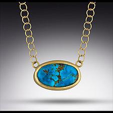 Persian Turquoise Choker by Lori Kaplan (Gold & Stone Necklace)