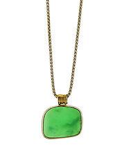 Chrysoprase Sterling Pendant by Lori Kaplan (Gold & Stone Necklace)