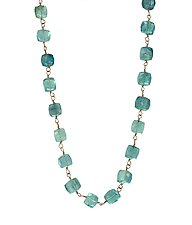 Fluorite Beaded Necklace by Lori Kaplan (Gold & Stone Necklace)