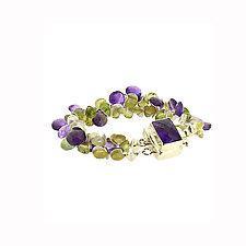 Signature Gem Bracelet by Lori Kaplan (Silver & Stone Bracelet)