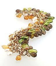 Multi-Gem Bracelet I by Lori Kaplan (Gold & Stone Bracelet)