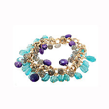Multi-Gem Charm Bracelet II by Lori Kaplan (Jewelry Bracelets)