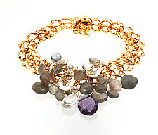 Multi-Gem Charm Bracelet III by Lori Kaplan (Gold & Stone Bracelet)