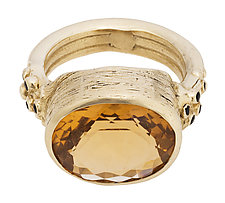 Citrine and Onyx Cocktail Ring by Lori Kaplan (Gold & Stone Ring)