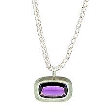 Amethyst Pendant Necklace by Lori Kaplan (Silver & Stone Earrings)