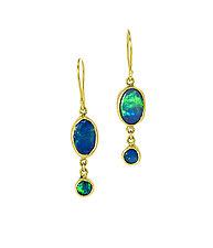 Boulder Opal Earrings by Lori Kaplan (Gold & Stone Earrings)