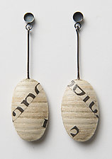 Echo Ovals by Eliana Arenas (Mixed-Media Earrings)