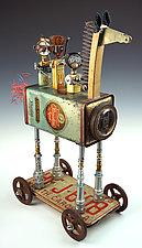 Trojan Horse Joyride by Amy Flynn (Mixed-Media Sculpture)