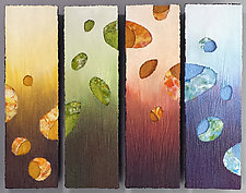 Seasons of Play by Jeanne Petrosky and Dennis Guzenski (Mixed-Media Painting)