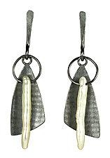 Sweeper Earrings by Tammy B (Silver & Pearl Earrings)