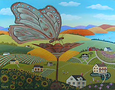 Butterfly Weathered Vane by Warren Godfrey (Acrylic Painting)