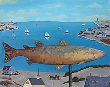 Cod Weathered Vane by Warren Godfrey (Acrylic Painting)