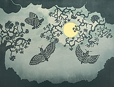Circling the Moon by Andrea  Pro (Woodcut Print)
