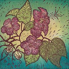 Ko'oloa'ula by Andrea  Pro (Woodcut Print)