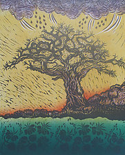 Calling the Rain by Andrea  Pro (Woodcut Print)