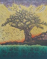 Calling the Rain by Andrea  Pro (Woodcut Print)