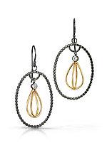 Gold Honeydrop Earrings by Alice Scott (Gold, Silver & Stone Earrings)