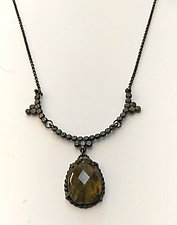 Labradorite Victorian Inspired Soiree Necklace by Alice Scott (Silver & Stone Necklace)