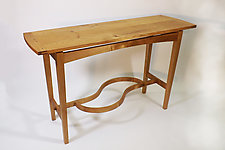Hen-to-Pan Table by B.R. Delaney (Wood Console Table)
