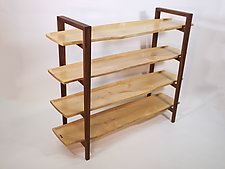 Walker Bookshelf by B.R. Delaney (Wood Shelf)