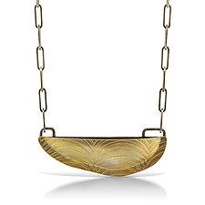 Brass Bateaux Necklace by Sarah Chapman (Gold Necklace)