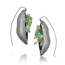 Lush Bateaux Earrings by Sarah Chapman (Silver & Stone Earrings)