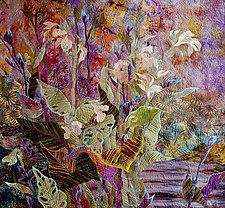 Late Summer Canna Lily by Olena Nebuchadnezzar (Fiber Wall Hanging)
