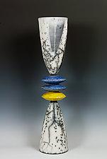 Naked Raku Stack by Frank Nemick (Ceramic Sculpture)