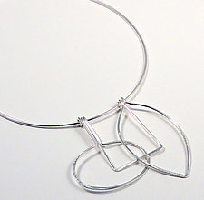 Retro Trio Necklace by Laura Hutchcroft (Silver Necklace)
