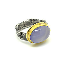 Chalcedony Ring by Jenny Foulkes (Gold, Silver & Stone Ring)