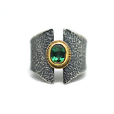 Indicolite Band Ring by Jenny Foulkes (Gold, Silver & Stone Ring)