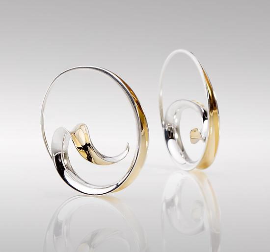 Wave Hoop Earrings