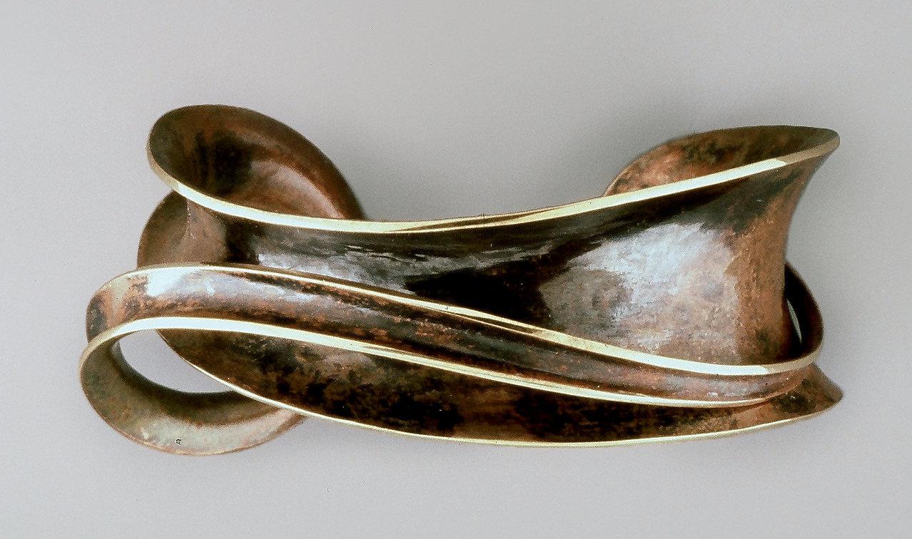 Bronze Single Overlay Cuff By Nancy Linkin Bracelet Artful Home