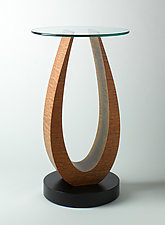Tong Pedestal by Richard Judd (Wood Side Table)