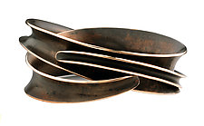Double Wrapper Bangle by Nancy Linkin (Bronze Bracelet)