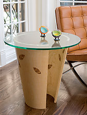 Leaf End Table by Richard Judd (Wood Side Table)