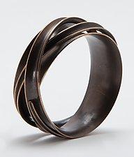 Triple Wrapper Bangle Bracelet by Nancy Linkin (Bronze Bracelet)
