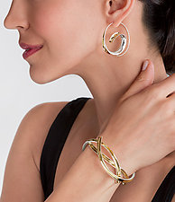 Intertwined Cuff Bracelet by Nancy Linkin (Gold & Silver Bracelet)