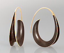 Bronze Oval Earrings by Nancy Linkin (Gold & Bronze Earrings)